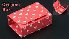 Kiste Selber Basteln - geschenkbox basteln origami box falten diy