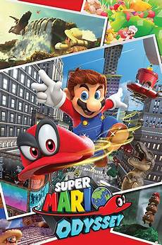 mario odyssey collage poster sold at ukposters
