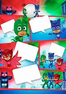 Pj Mask Malvorlagen Gratis Pj Masks Free Printable Invitations Oh My In