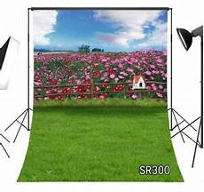 5x7ft Grass Flower Colorful Nature Vinyl by Nature Scenic Flowers Field Green Grass Backdrop 5x7ft