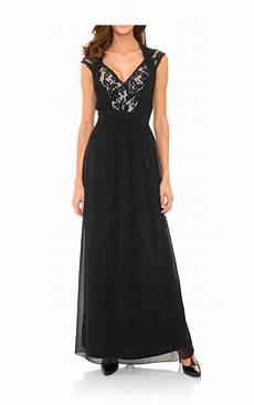 designer abendkleid mit spitze schwarz abendmode