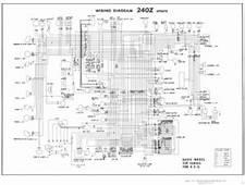Datsun 240Z 1971 FSM Supplement  Dash Gauges Wiring HVAC