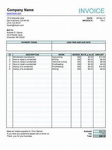 freelance receipt template 10 free freelance invoice templates word excel
