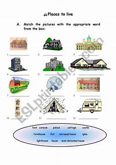 worksheets for places to live 15996 places to live esl worksheet by candi