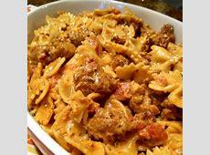 spicy chicken bow tie pasta in cream sauce_image