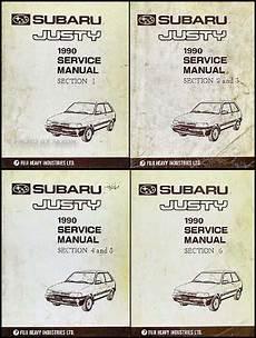 car service manuals pdf 1987 subaru justy electronic throttle control 1990 subaru justy repair shop manual original set