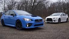 Subaru Or Evo by Not A Comparison Test Mitsubishi Lancer Evo Vs Subaru