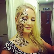 leoparden augen schminken leopard gesicht schminken 56 tolle ideen gesicht