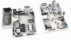 plan maison moderne 3d 3d studio 5 chambres modern house