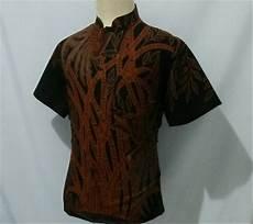 jual kemeja batik pria baju batik cowok krah koko shanghai prismisima 5e di lapak herliolshop