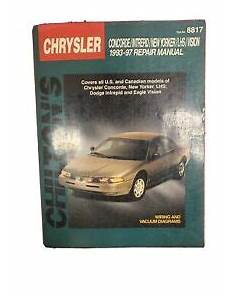 free car repair manuals 1997 chrysler lhs windshield wipe control 1993 1997 chilton chrysler concorde intrepid lhs repair manual 8817 ebay