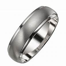 men s 9ct white gold satin and polished ring h samuel