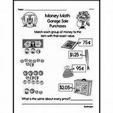 money division worksheets 2114 second grade money math worksheets adding money edhelper