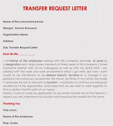 correct format to write a transfer request letter with sles