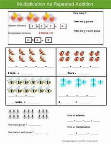 multiplication as repeated addition worksheets with pictures 9609 relate addition to multiplication third grade math worksheets biglearners