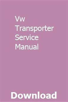old cars and repair manuals free 2002 volkswagen new beetle engine control vw transporter service manual repair manuals used motorhomes cervans for sale