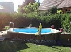 amenagement piscine bois octogonale