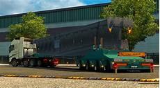 heavy load steel construction trailer mod truck