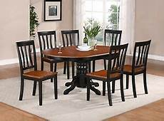 5 pc oval dinette kitchen dining table w 4 seat chairs in black cherry 682962631357 ebay