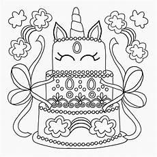 Malvorlagen Unicorn Cake Coloring Page Cakes
