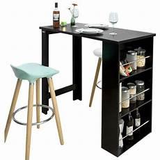 table de bar mange debout table haute de cuisine avec 3