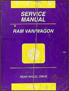 auto manual repair 1996 dodge ram van 1500 engine control 1996 dodge ram van wagon repair shop manual original b1500 b3500