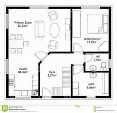 technical drawing home floor plan stock vector