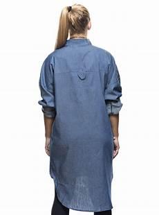 chemise en jean longue femme coupe asym 233 trique