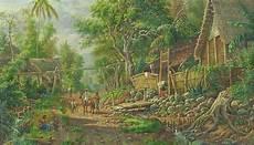 Lukisan Pemandangan Malang Raya 1900 Jawa Jaman Dulu