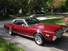 1968 Mercury Cougar 302 Maroon Automatic Excellent