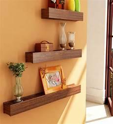 wandgestaltung mit regalen mango wood wall shelves set of 3 by home sparkle