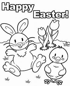 Ausmalbilder Ostern A4 Printable Greeting Card Happy Easter Coloring Page