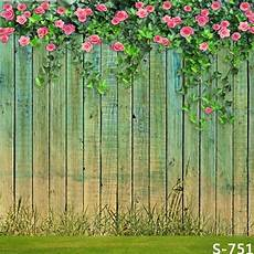 3x5ft Vinyl Lawn Pink Flowers by 10x10ft Yellow Green Wooden Planks Pink Flowers Branch
