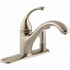 3 kitchen faucets kohler forte 3 single handle side sprayer kitchen faucet in vibrant brushed bronze k 10413