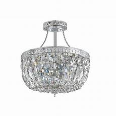 3 light polished chrome swarovski strass crystal flush polished chrome ceiling