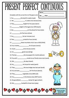 present perfect continuous worksheet free esl printable worksheets made by teachers