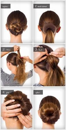 chignon facile cheveux mi a faire soi m 234 me coiffure