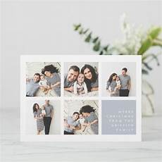 modern merry christmas photo collage card zazzle com with images merry christmas photos