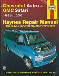 books on how cars work 2005 gmc safari electronic throttle control 1985 2005 haynes chevrolet astro gmc safari repair manual 1563926962 ebay