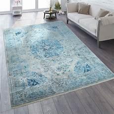 vintage teppich blau orient teppich vintage optik ornamente blau teppich de