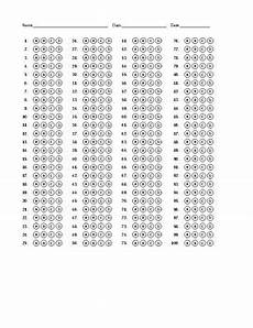 multiple choice bubble answer sheet by alan day tpt