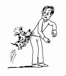 Ausmalbilder Tiere Und Menschen Hund Beisst Mensch Ausmalbild Malvorlage Hund