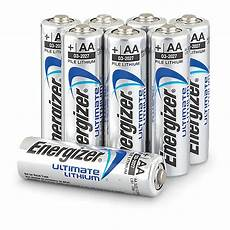 8 pk of energizer 174 ultimate lithium aa batteries 283672