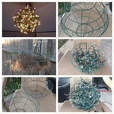 using planters to make an interestin patio light