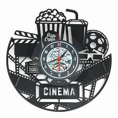 Inch Black Popcorn Wall Clock Theater by 12 Quot 12 Inch 3d Black Popcorn Wall Clock Theater