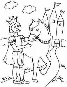 kostenlose malvorlage m 228 rchen prinz und sein pferd zum