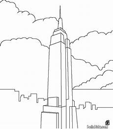 coloring pages 17621 line drawing of emprie state building craft day empire state building empire