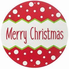 12 quot round metal sign merry christmas polka dot ap0140 craftoutlet com