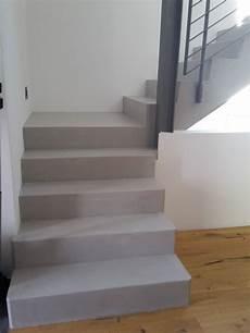 beton cire beschichtung auf treppenstufen treppenstufen