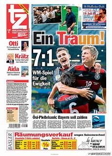 fotos quot deutschland zerst 246 rt brasilien quot titelseiten der